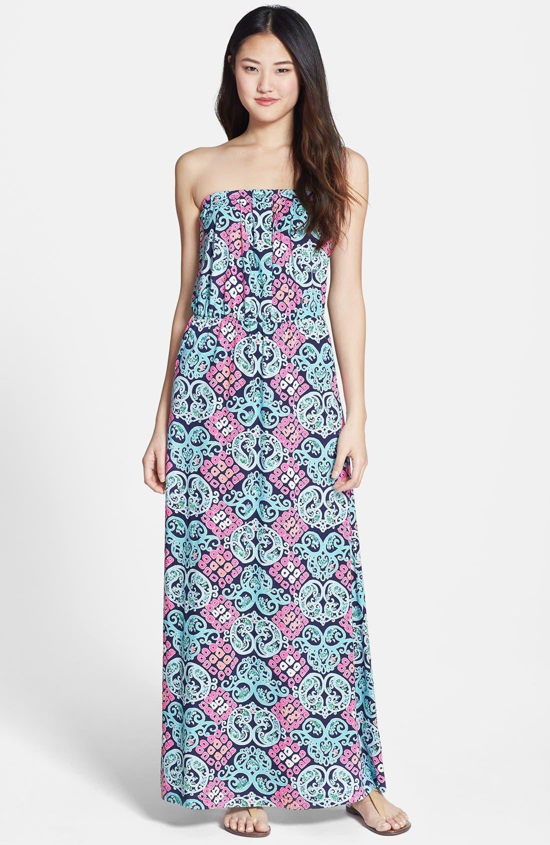 Alternate Image 1 Selected - Lilly Pulitzer® 'Marlisa' Print Cotton Maxi Dress