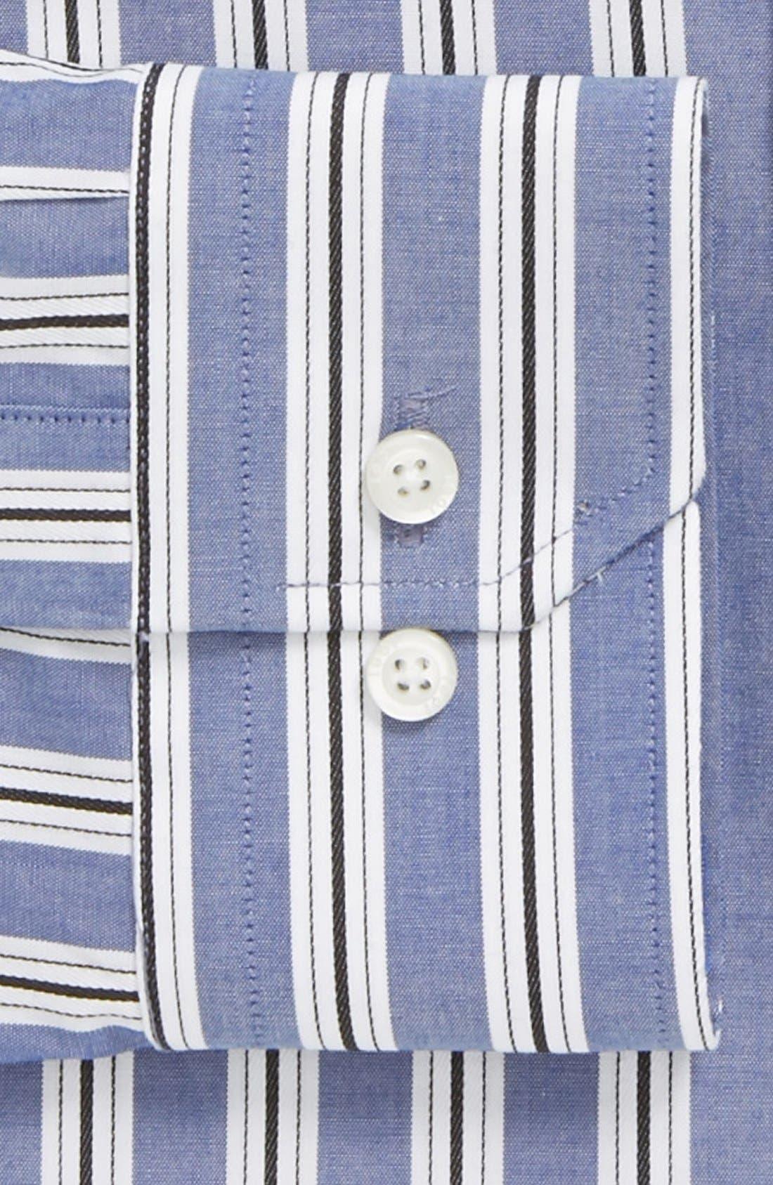 Alternate Image 2  - 1901 Trim Fit Stripe Dress Shirt
