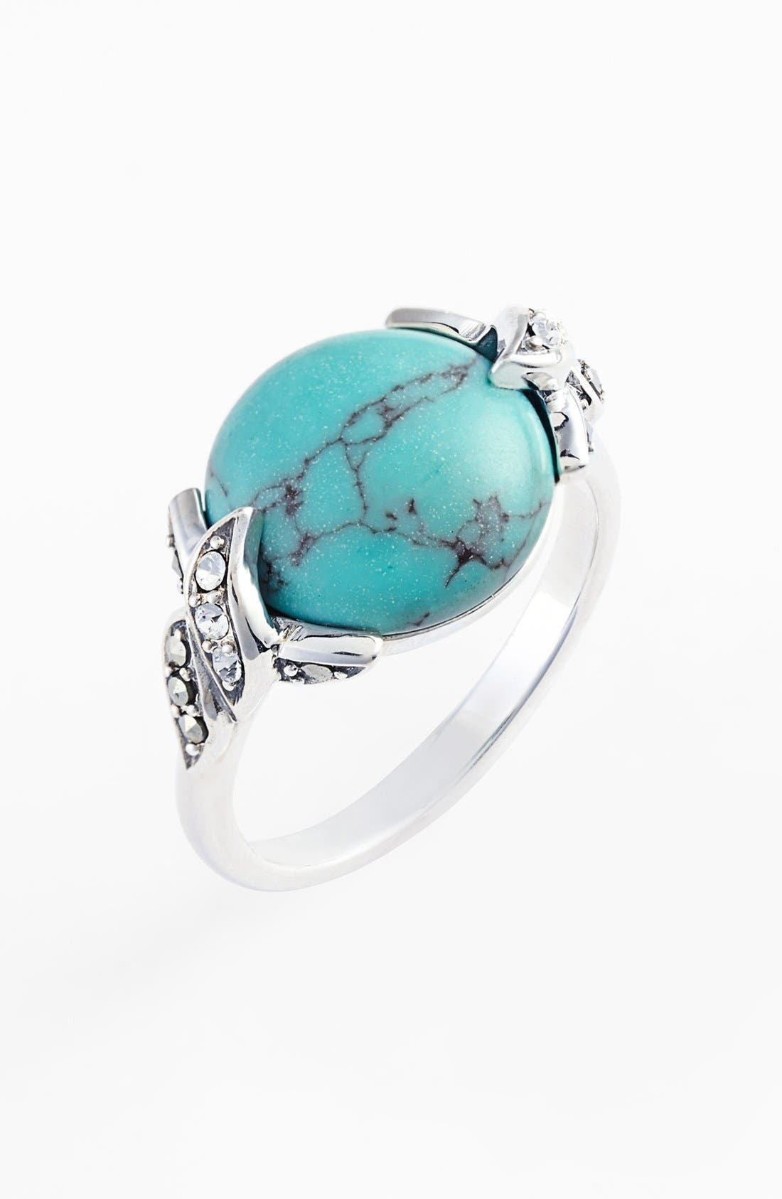 Alternate Image 1 Selected - Judith Jack 'Paradise' Turquoise Stone Ring