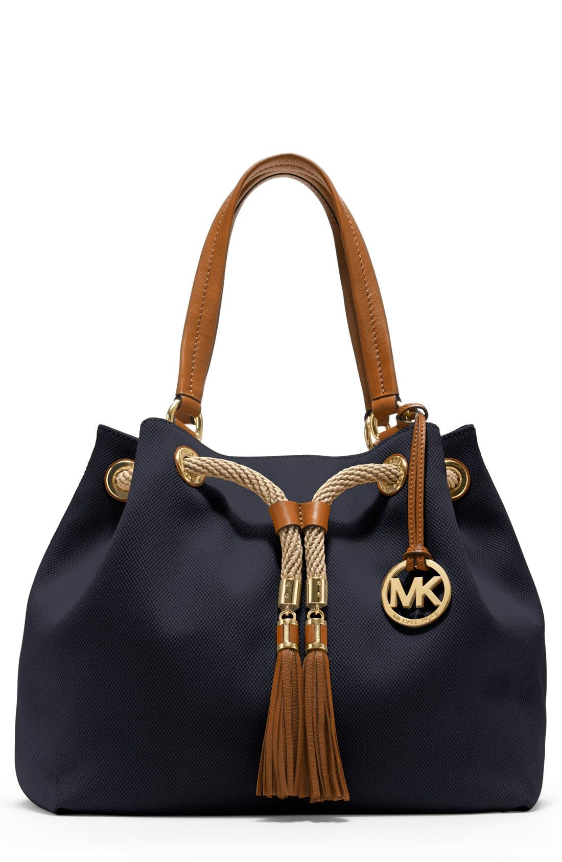 Main Image - MICHAEL Michael Kors 'Large' Canvas Drawstring Tote