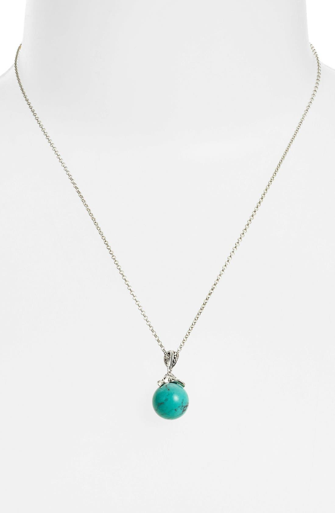 Alternate Image 1 Selected - Judith Jack Turquoise Pendant Necklace
