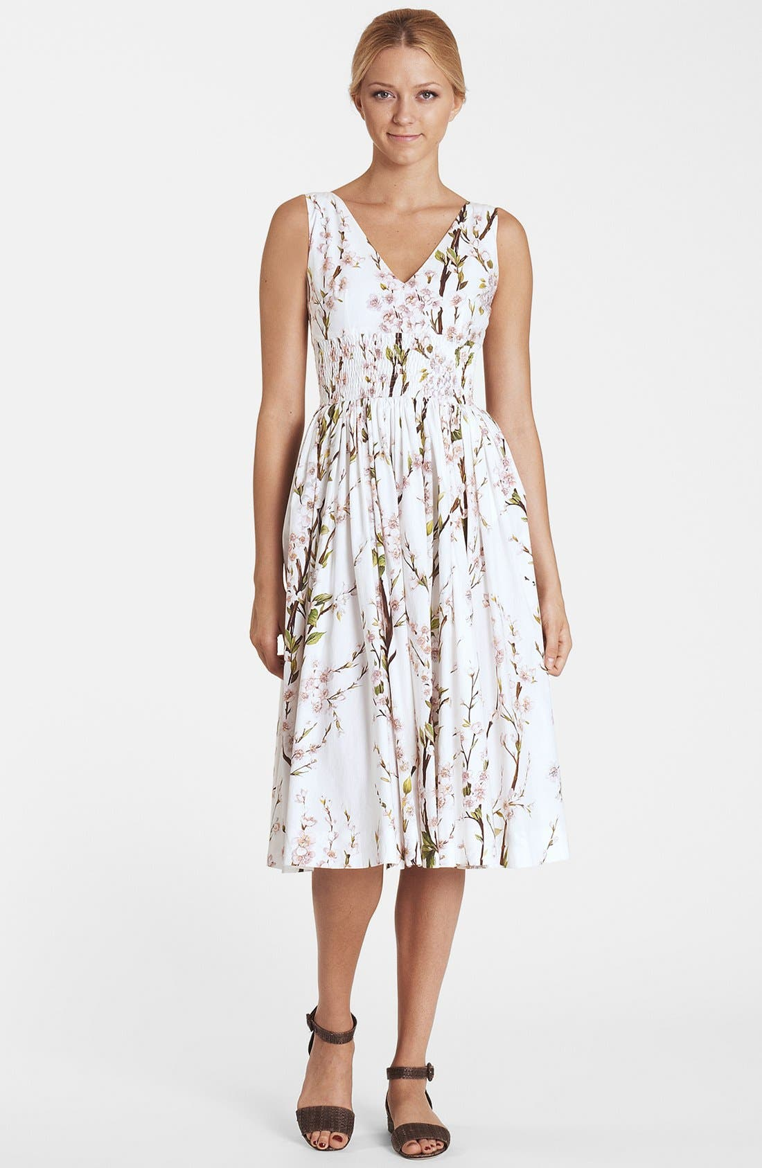 Main Image - Dolce&Gabbana Print Fit & Flare Dress