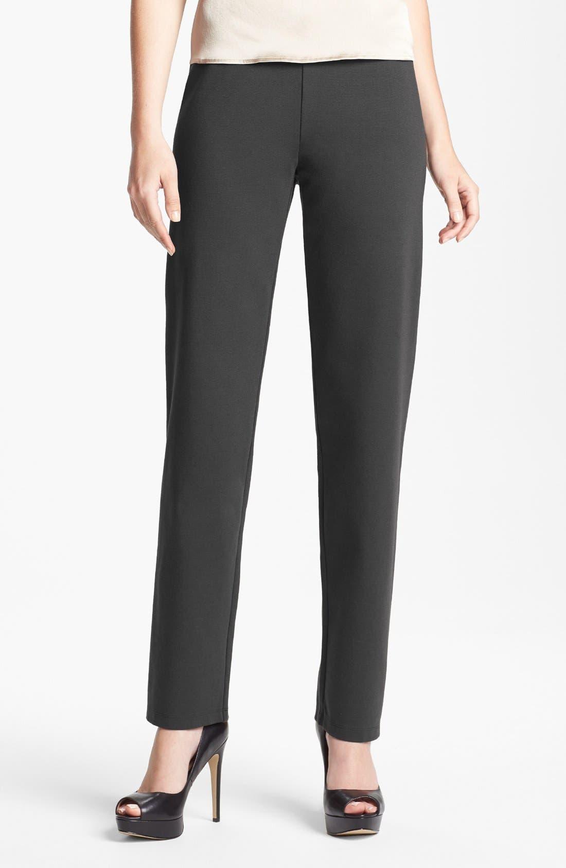 Alternate Image 1 Selected - Eileen Fisher Slim Pull-On Pants
