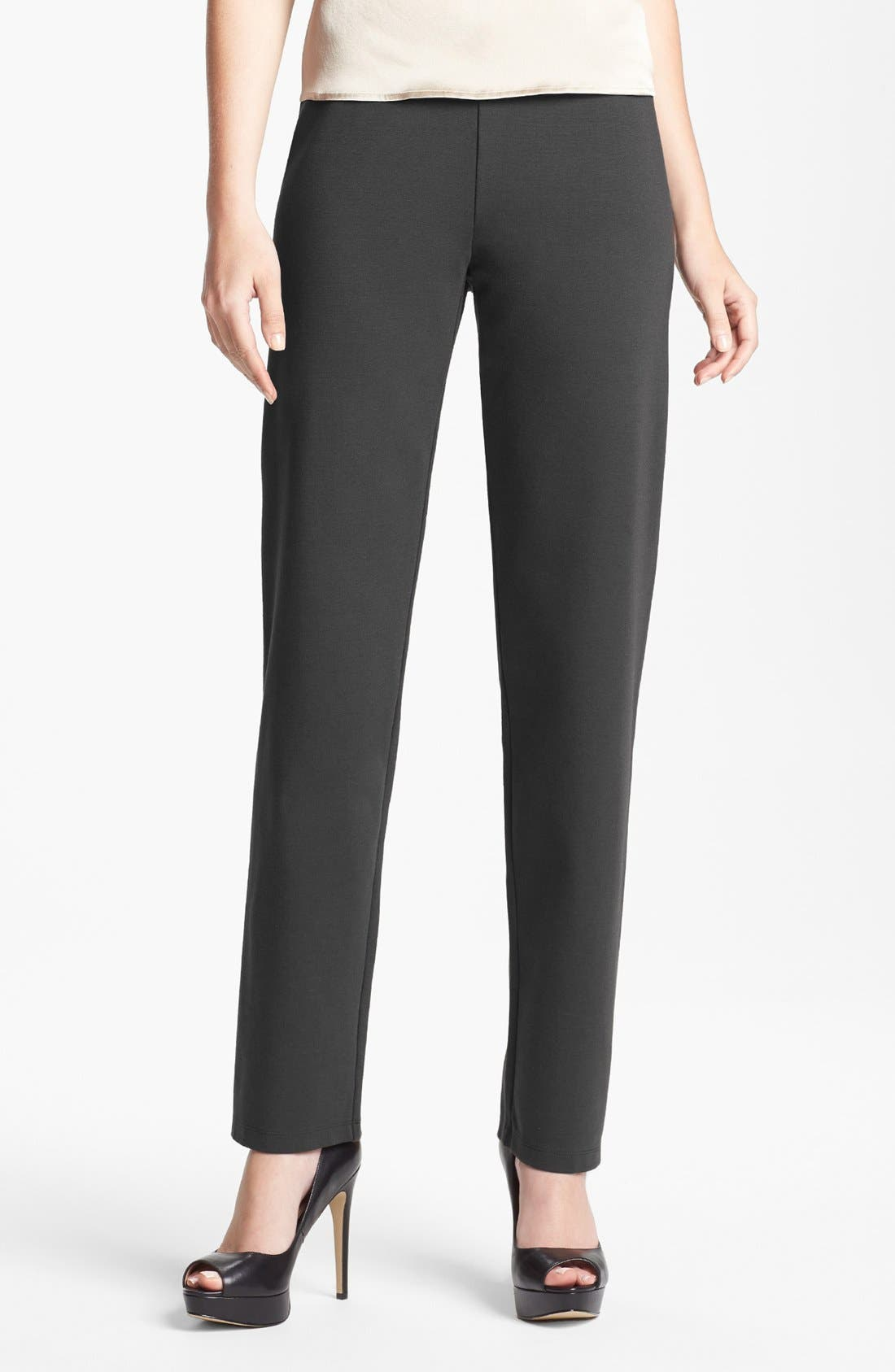 Main Image - Eileen Fisher Slim Pull-On Pants