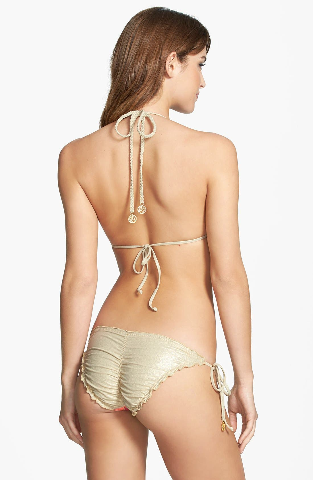 'La Fama' Triangle Bikini Top,                             Alternate thumbnail 4, color,                             Multi