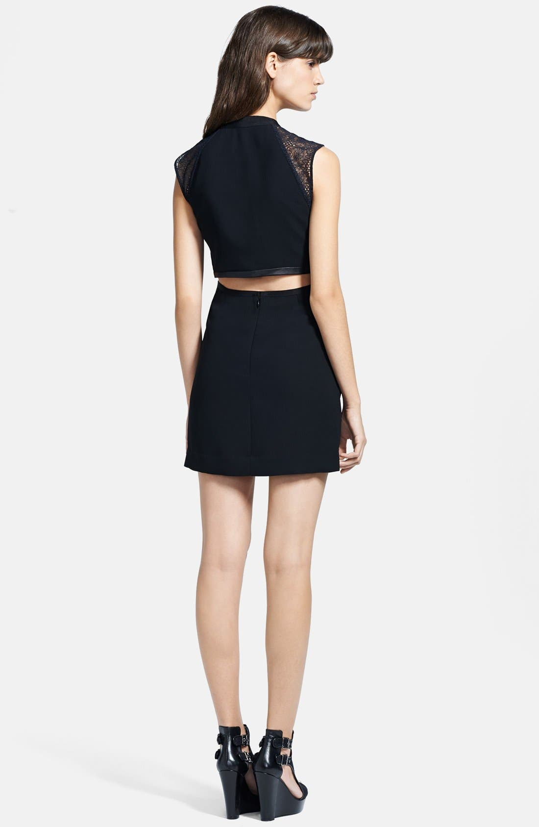 Alternate Image 2  - The Kooples Cutout Crepe Dress