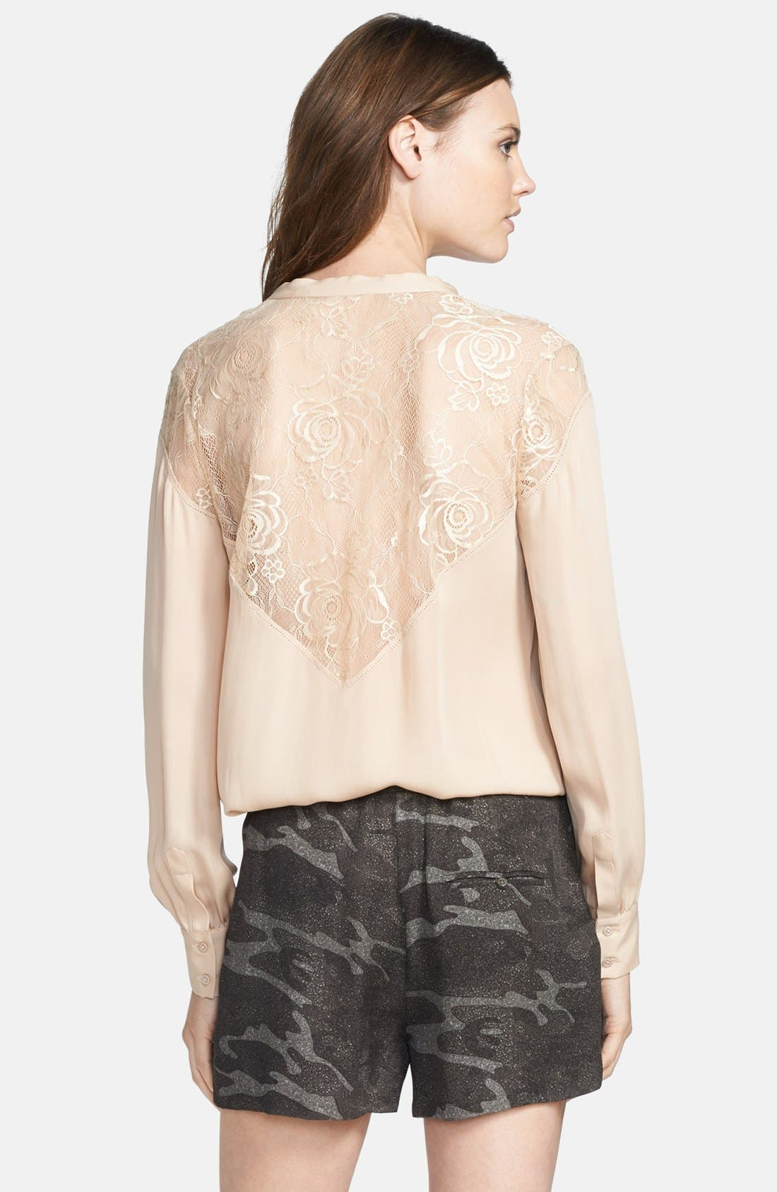 Alternate Image 2  - Haute Hippie Pleated Silk Blouse