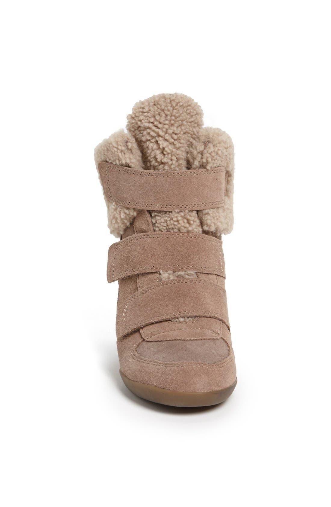 Alternate Image 3  - Ash 'Brizz' Shearling Cuff Hidden Wedge Sneaker