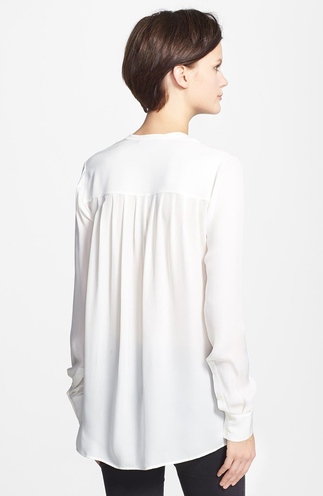 Alternate Image 2  - Vince Color Tipped Long Sleeve Blouse