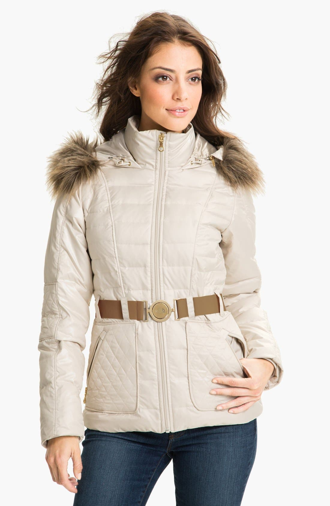 Alternate Image 1 Selected - The North Face 'Parkina' Belted Down Parka