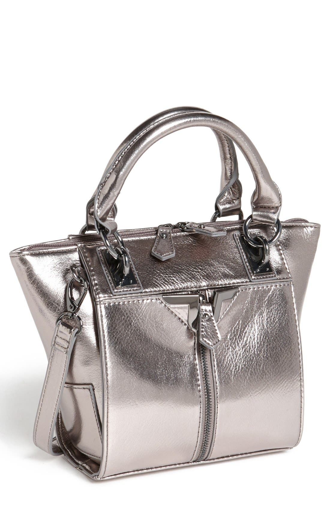 'Alexa - Mini' Crossbody Bag,                             Main thumbnail 1, color,                             Gunmetal