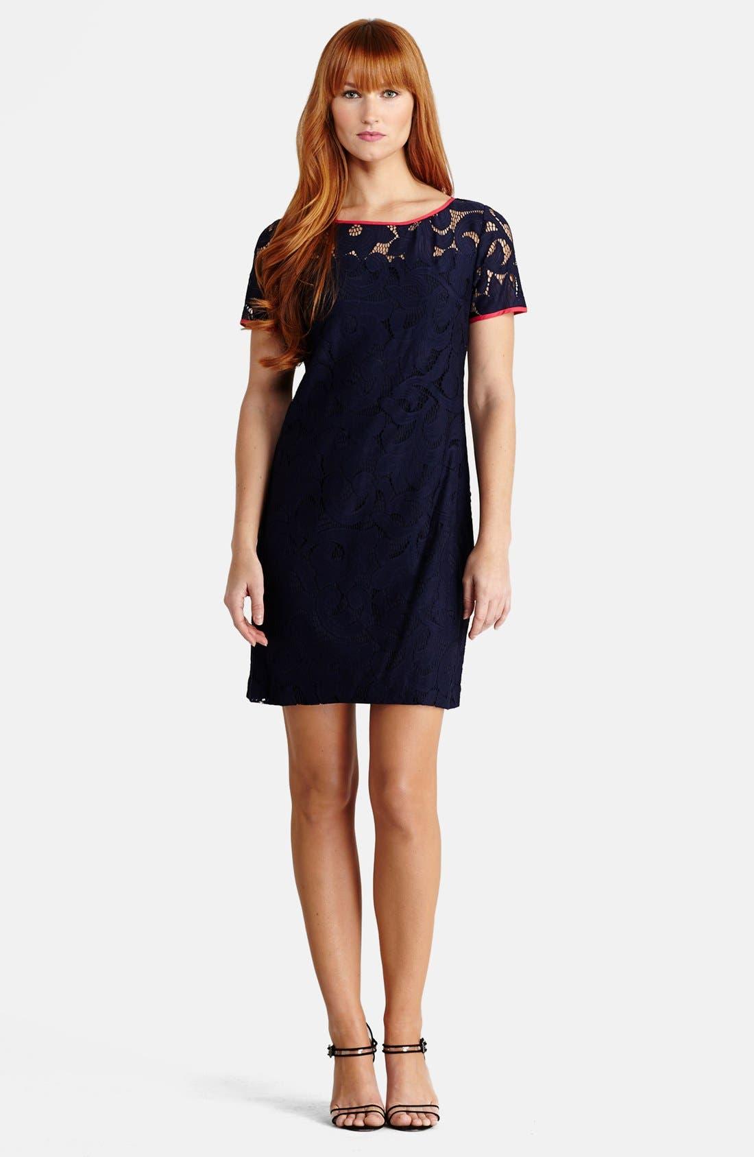 Main Image - Donna Morgan Lace Shift Dress
