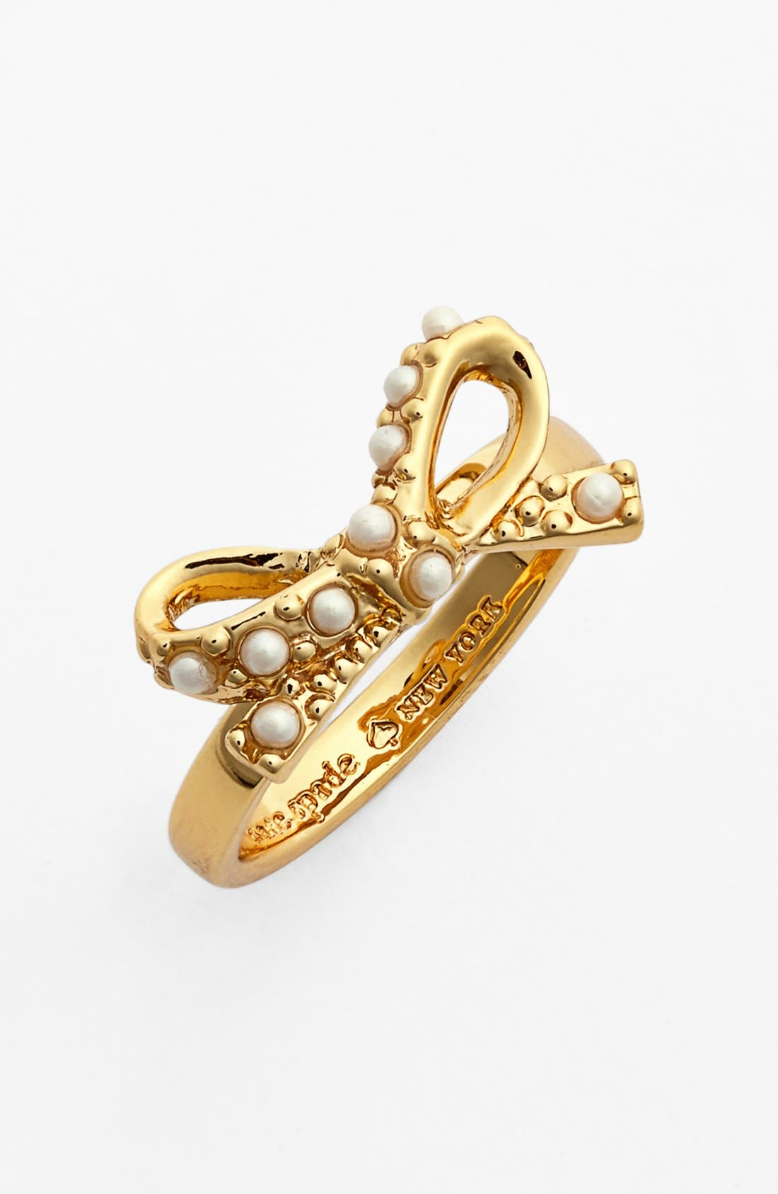 Alternate Image 1 Selected - kate spade new york faux pearl bow ring