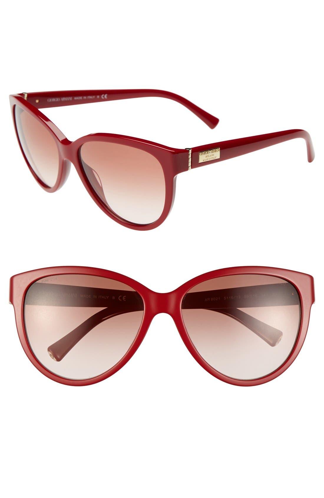Alternate Image 1 Selected - Giorgio Armani 59mm Cat Eye Sunglasses