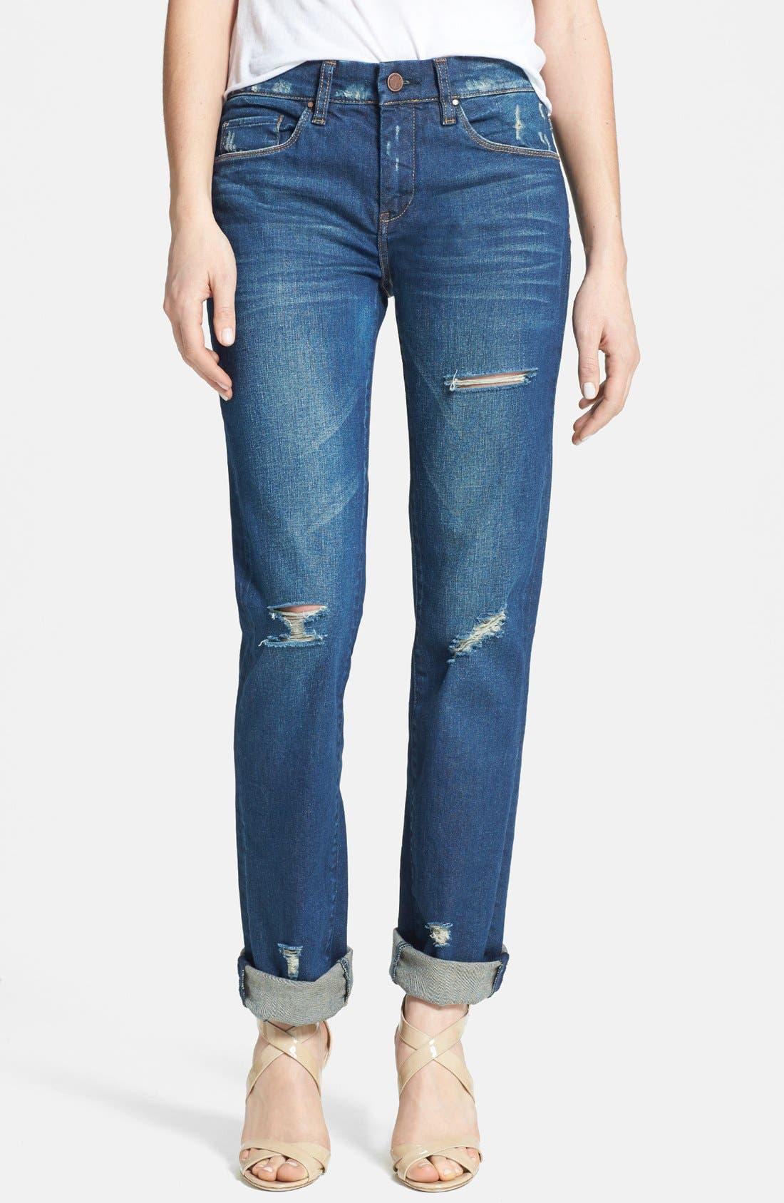 Main Image - BLANKNYC Destroyed Boyfriend Jeans (Bushwick Sick)