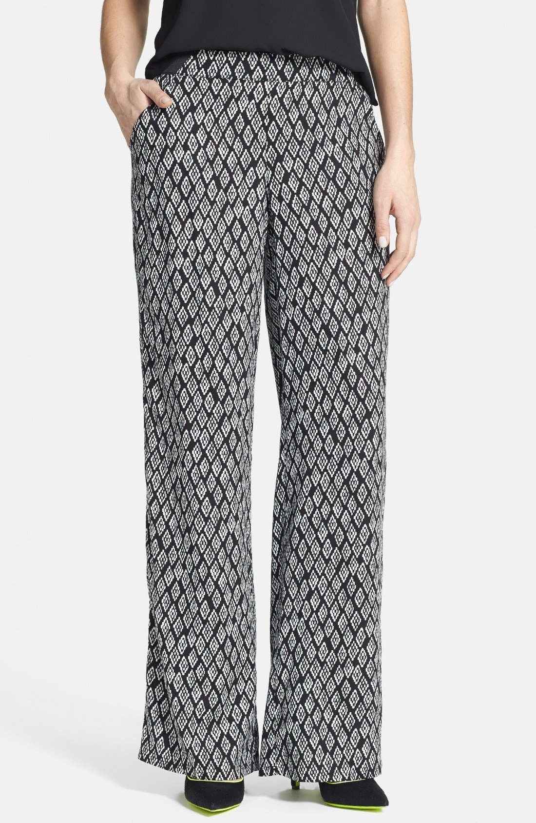 Alternate Image 1 Selected - Jolt Print Palazzo Pants (Juniors) (Online Only)