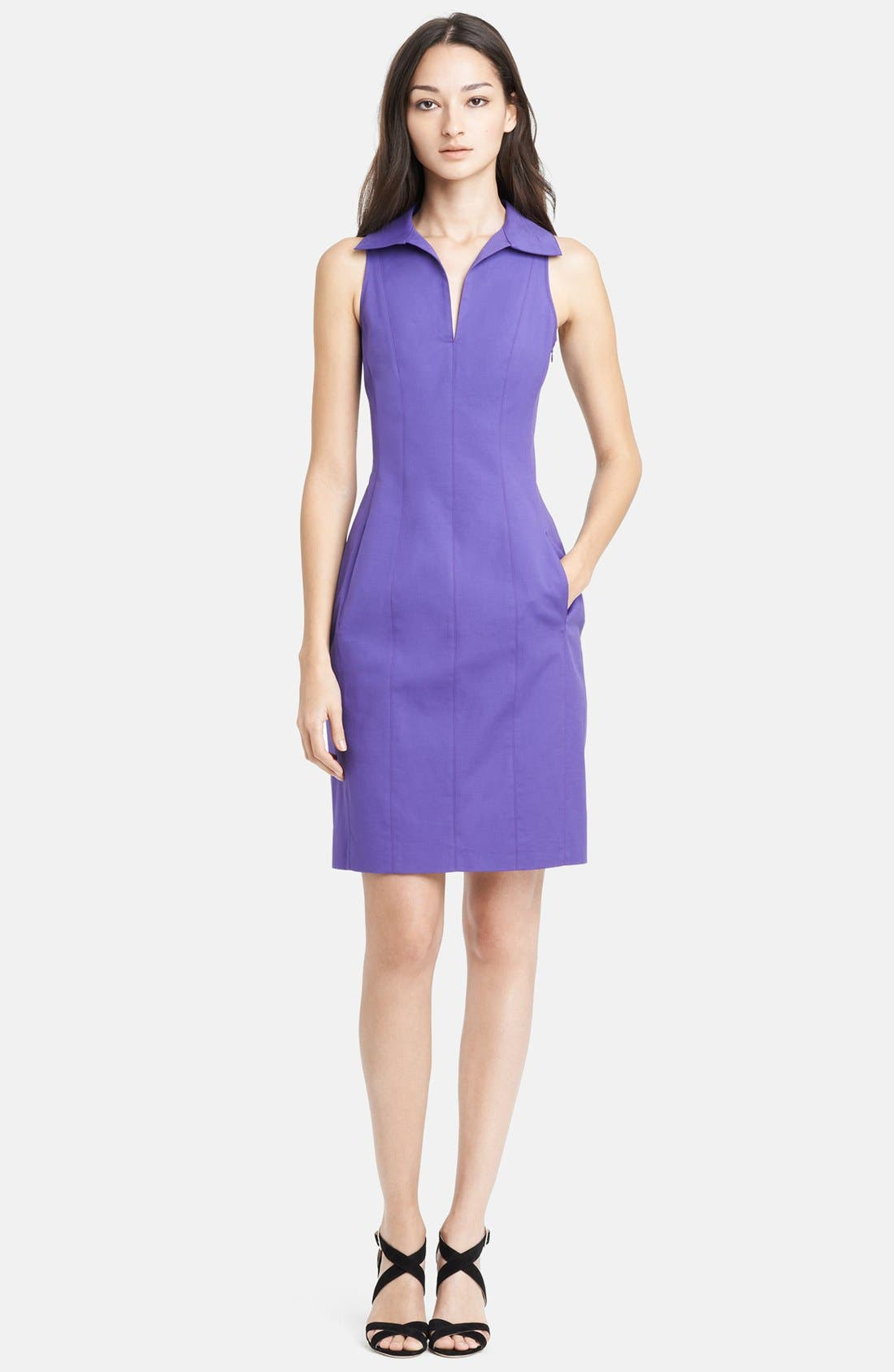Main Image - Armani Collezioni Double Face Stretch Cotton Dress