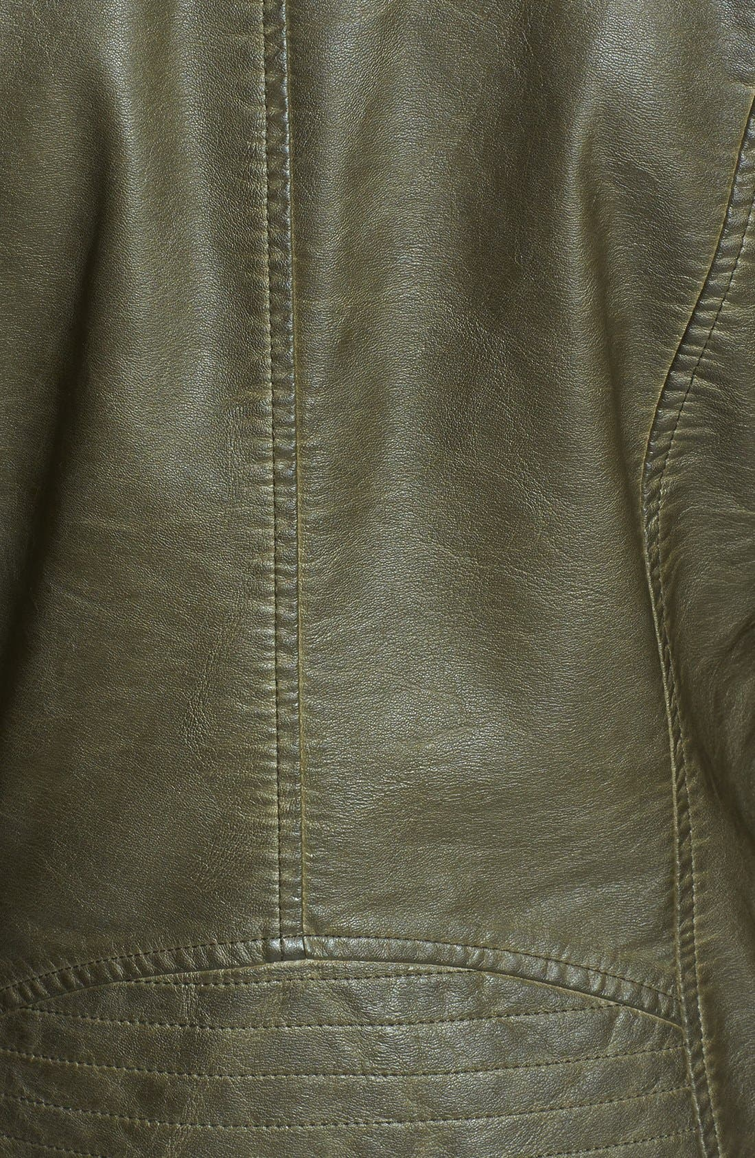 Alternate Image 3  - BB Dakota 'Dita' Faux Leather Moto Jacket