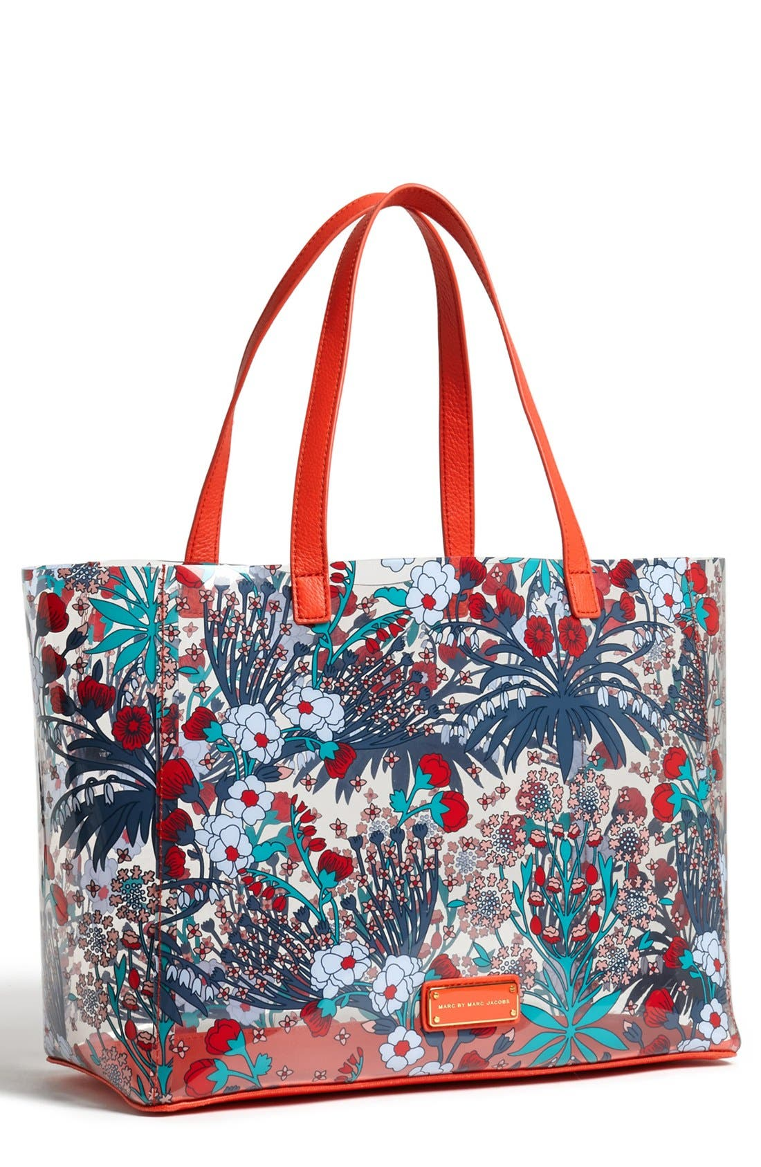 Alternate Image 1 Selected - MARC BY MARC JACOBS Transparent Floral Print Tote