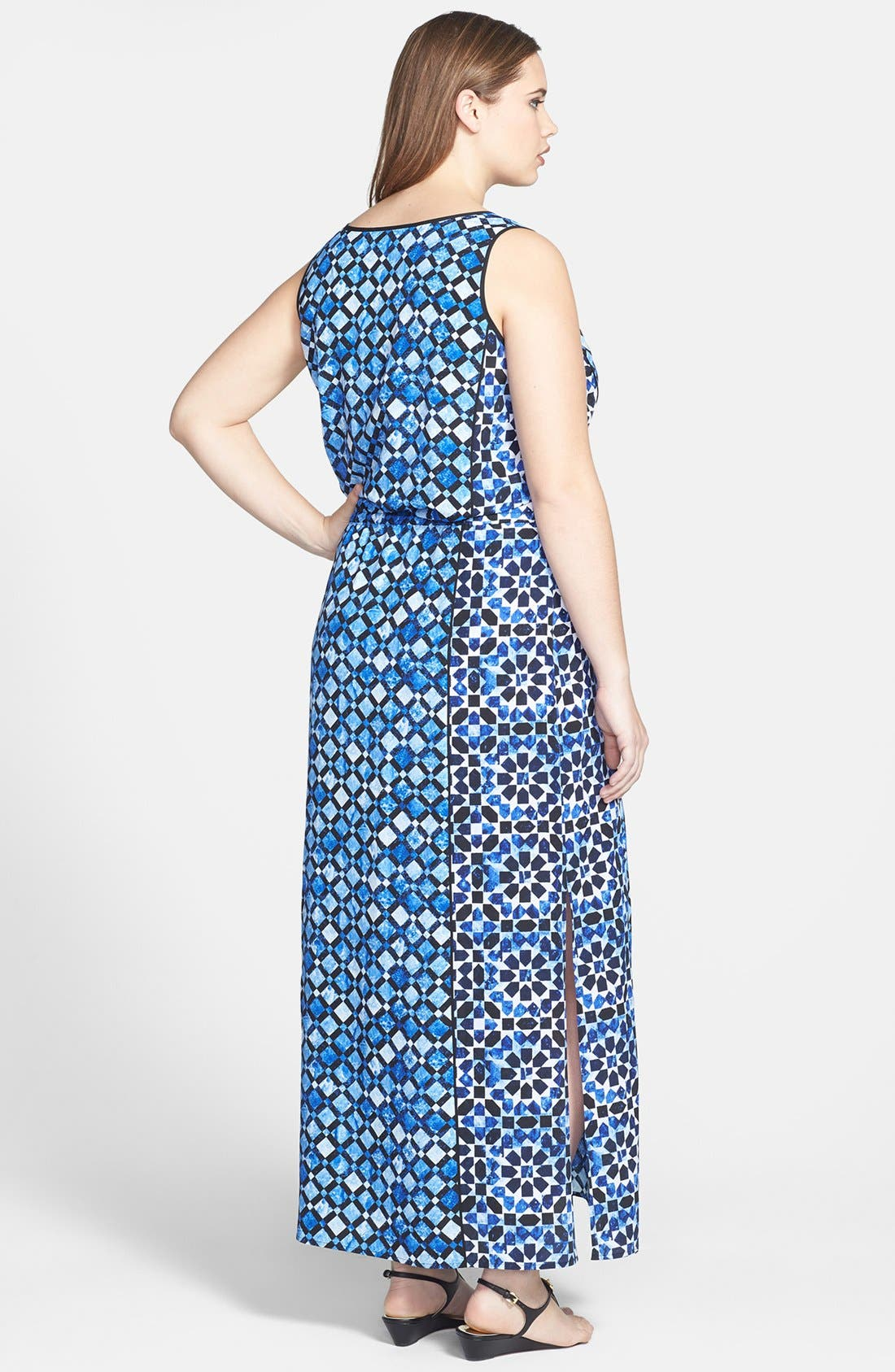 Alternate Image 2  - MICHAEL Michael Kors Print Maxi Dress (Plus Size)