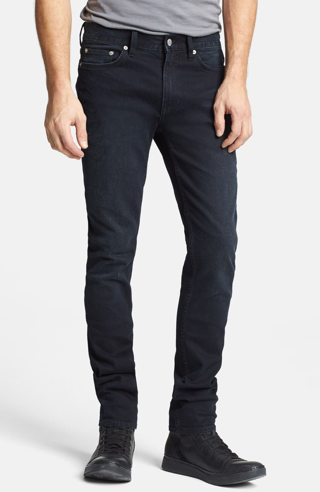 Alternate Image 1 Selected - BLK DNM 'Jeans 5' Slim Straight Leg Jeans (Beekman Black)