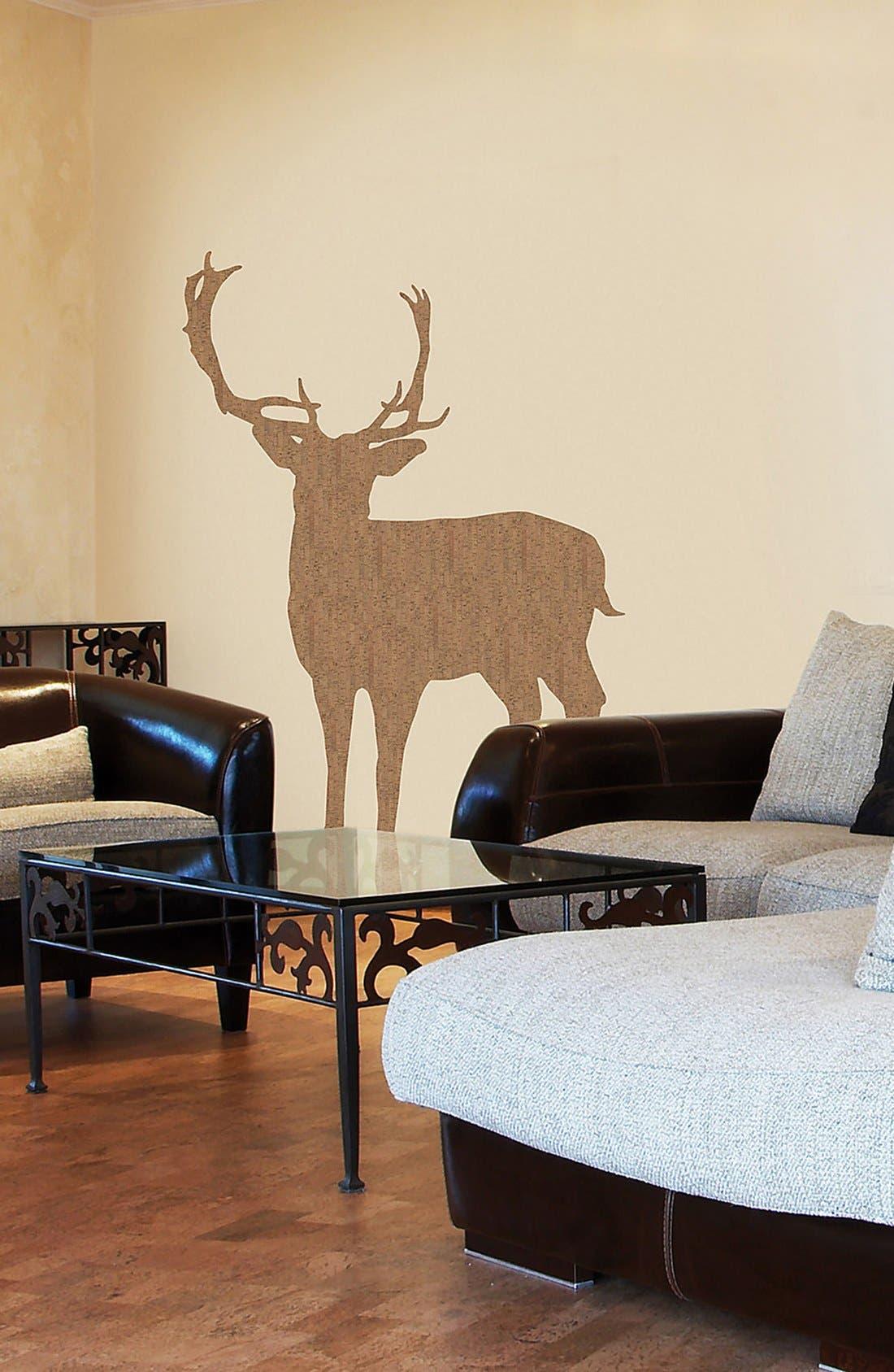 Main Image - Wallpops 'Deer' Cork Wall Art