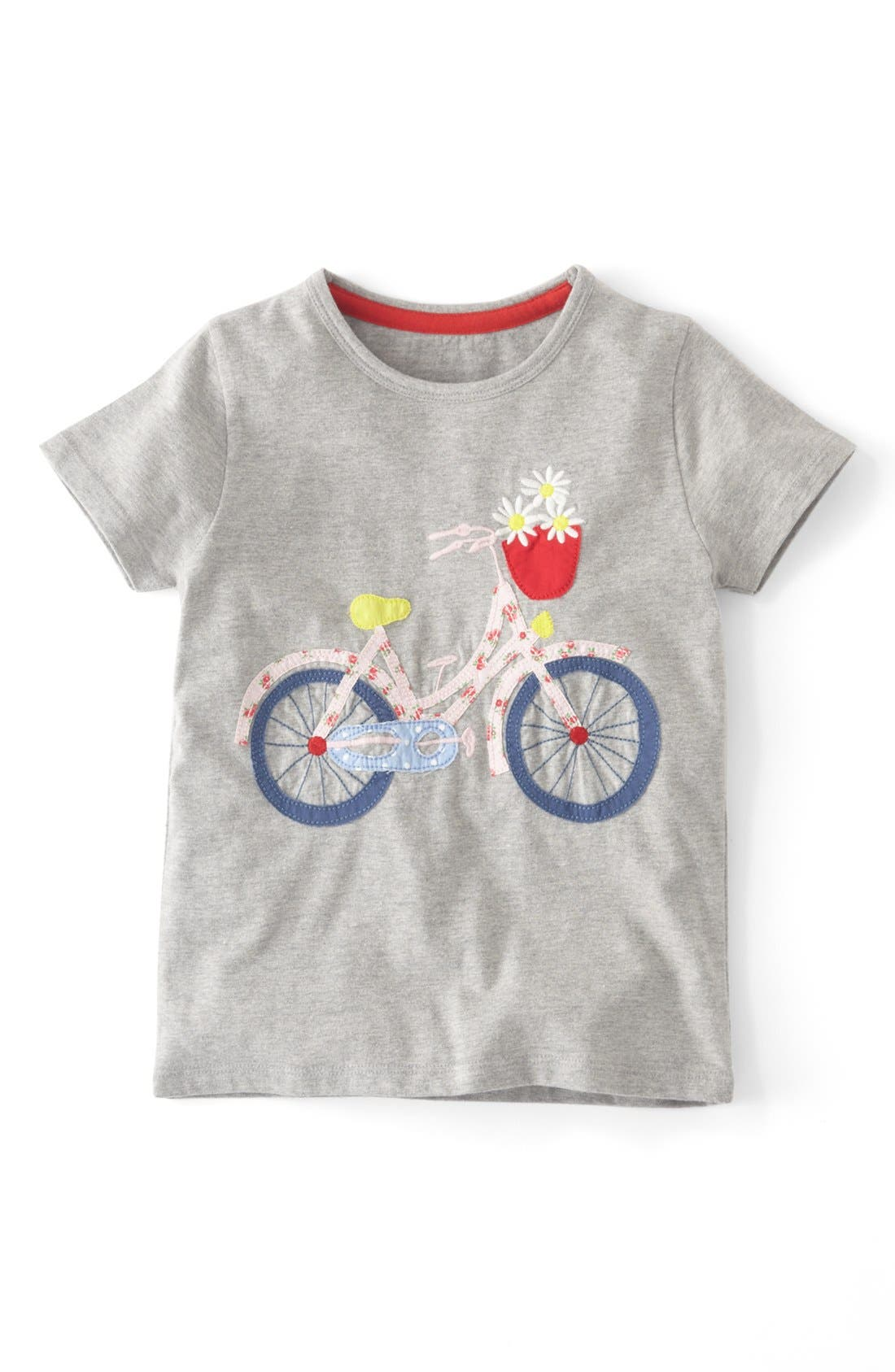 Main Image - Mini Boden Patchwork Appliqué Tee (Toddler Girls, Little Girls & Big Girls)(Online Only)