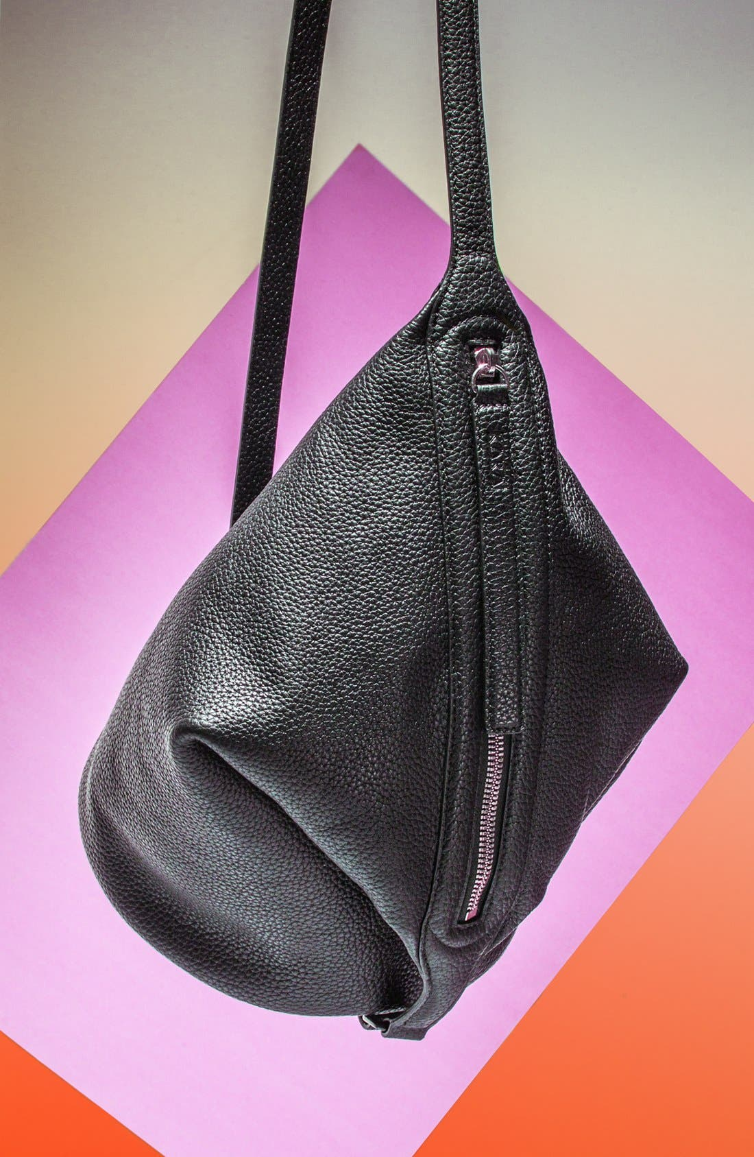 Alternate Image 1 Selected - Kara 'Dry - Small' Convertible Pebbled Leather Bucket Bag, Small