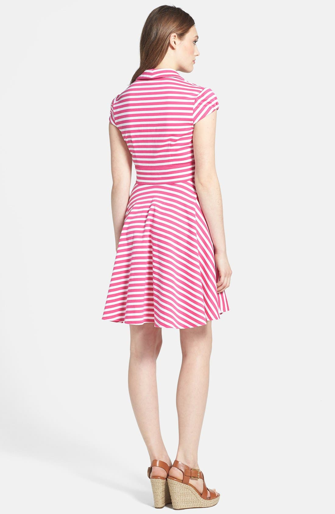 Alternate Image 2  - Betsey Johnson Stripe Fit & Flare Dress