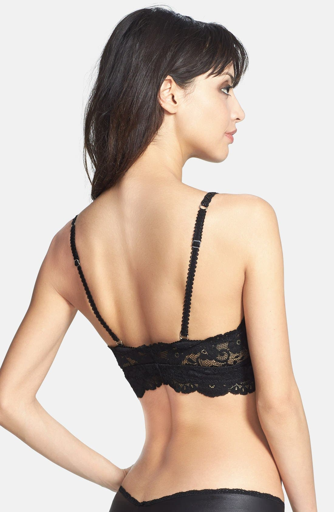 Alternate Image 2  - Les Coquines 'Jolie' Faux Leather & Lace Bralette