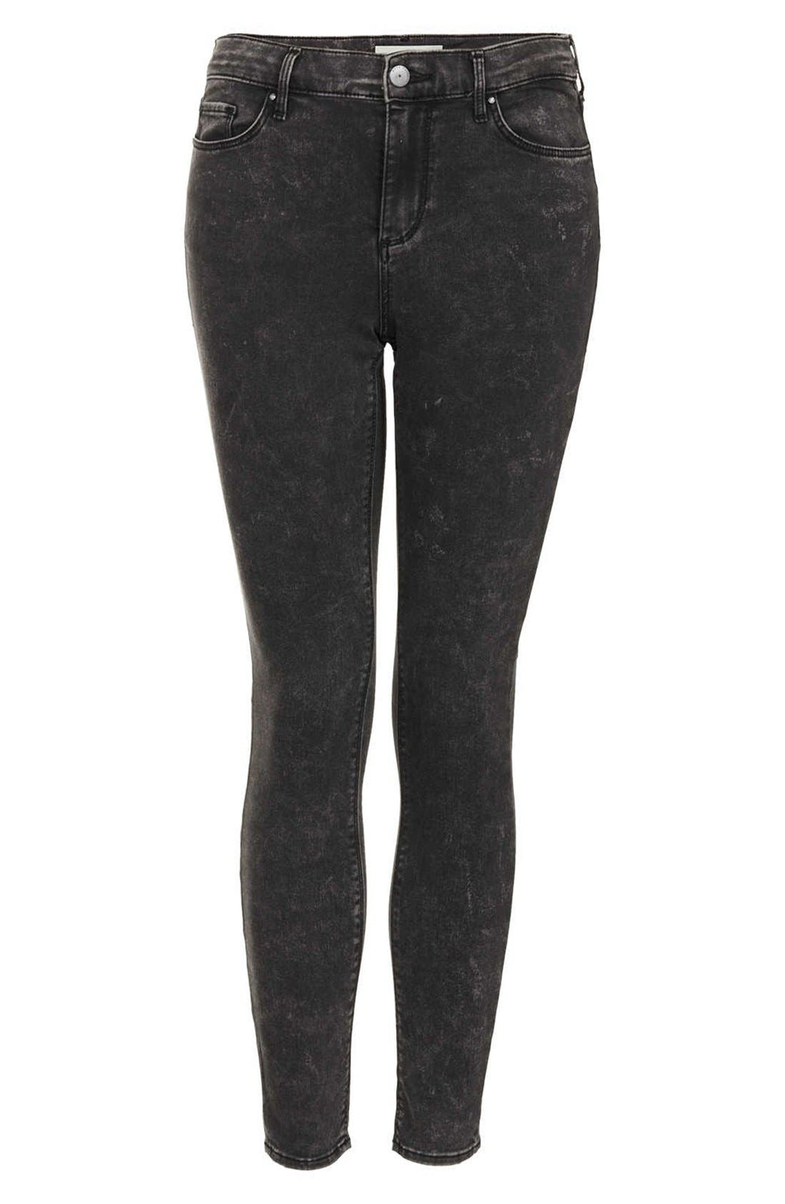 Alternate Image 3  - Topshop Moto 'Leigh' Mottled Skinny Jeans (Regular & Short)