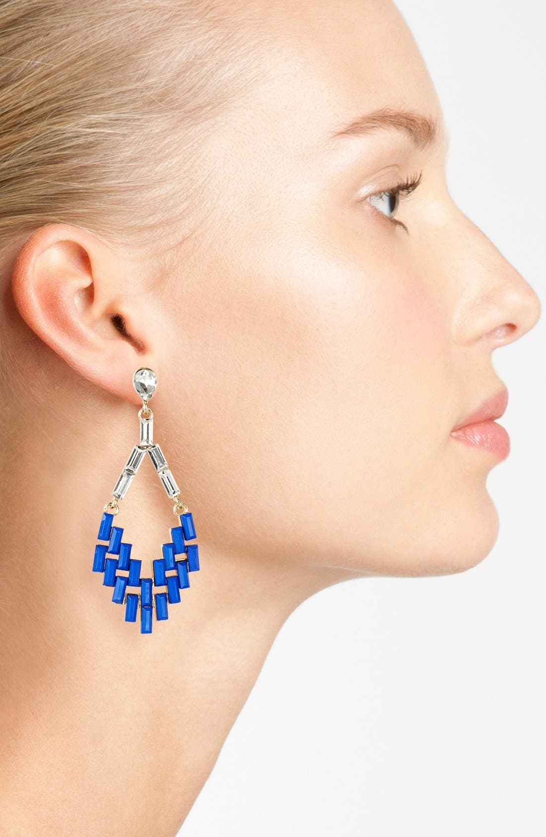 Alternate Image 2  - Cara Couture Chandelier Earrings