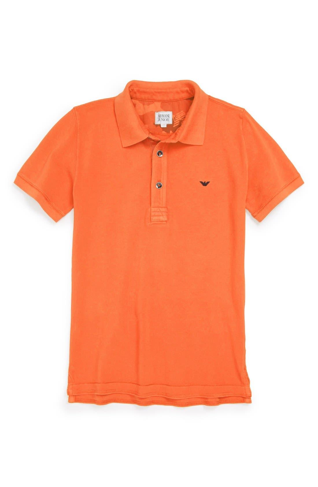 Alternate Image 1 Selected - Armani Junior Polo Shirt (Toddler Boys, Little Boys & Big Boys)