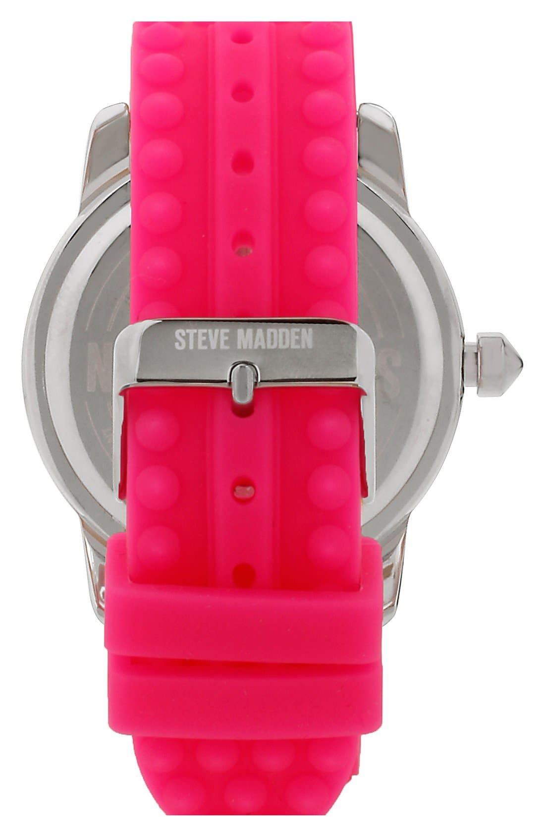 Alternate Image 2  - Steve Madden Studded Silicone Strap Watch, 44mm