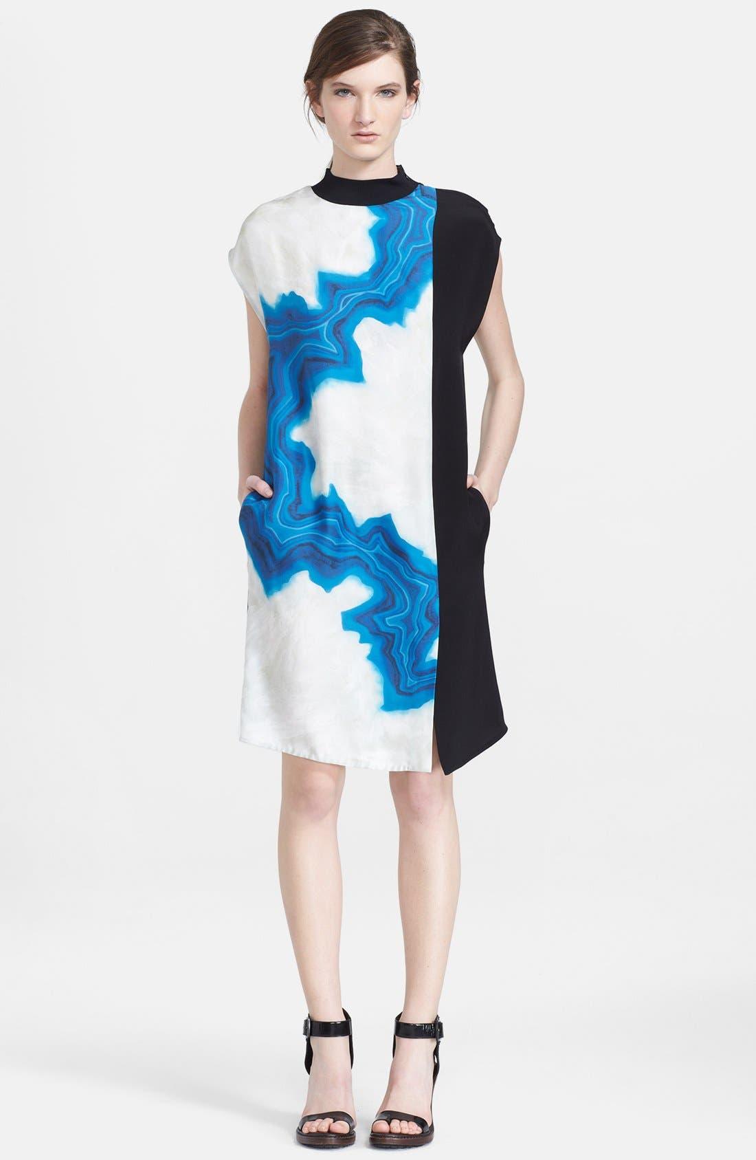 Main Image - 3.1 Phillip Lim Geode Print Colorblock Shift Dress