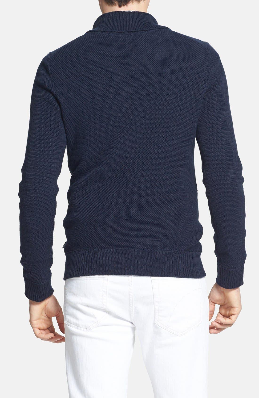 Alternate Image 2  - BOSS HUGO BOSS 'Pivot' Slim Fit Shawl Collar Sweater