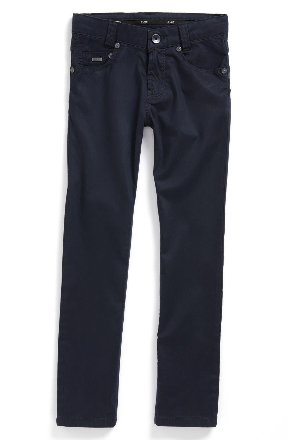 Alternate Image 1 Selected - BOSS Kidswear Stretch Twill Jeans (Little Boys & Big Boys)