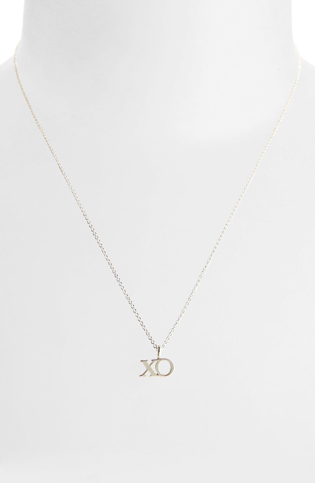 Alternate Image 2  - Dogeared 'Hugs & Kisses' Boxed XO Pendant Necklace