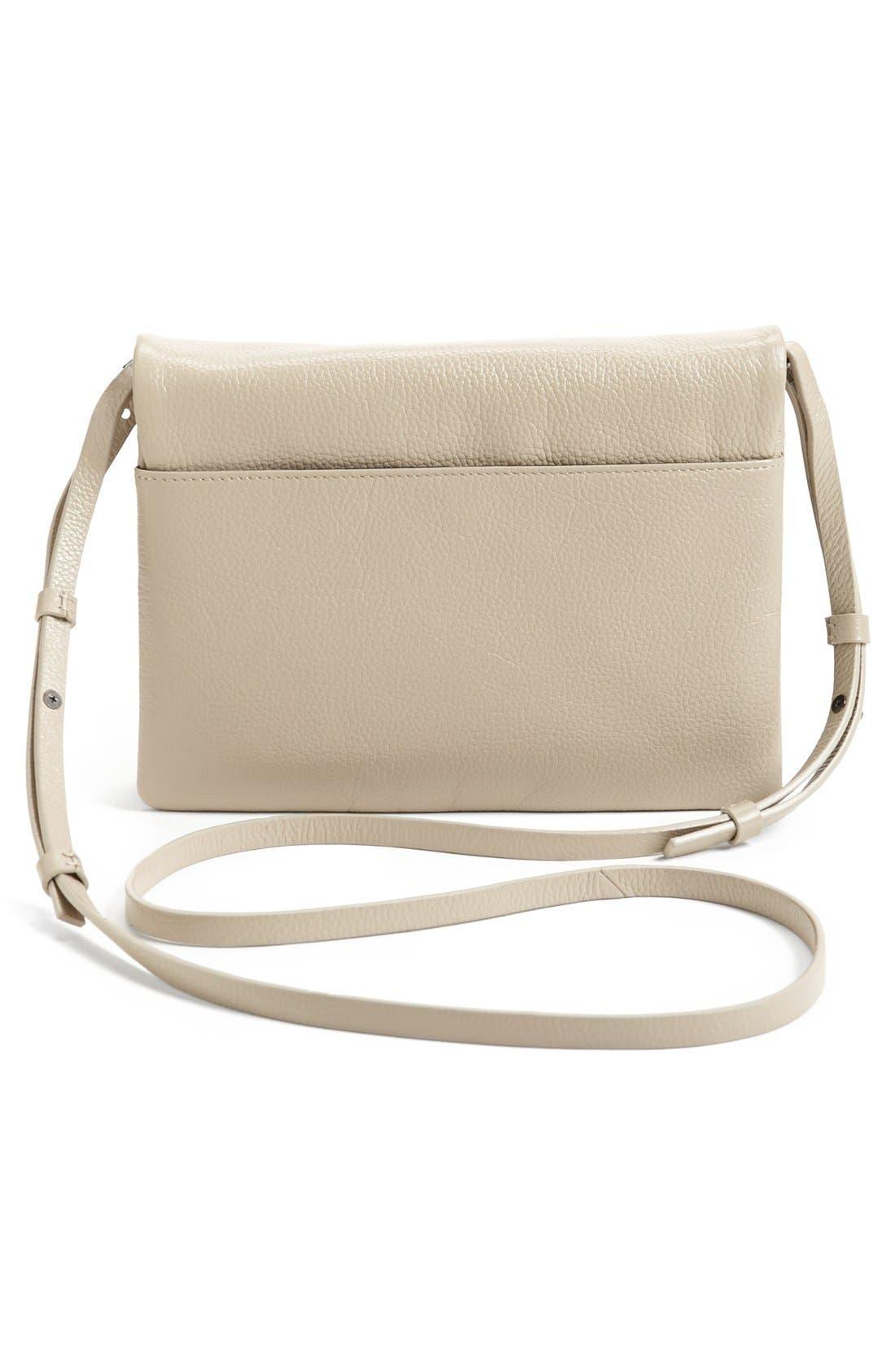 Alternate Image 4  - Halogen® Two-Tone Leather Crossbody Bag