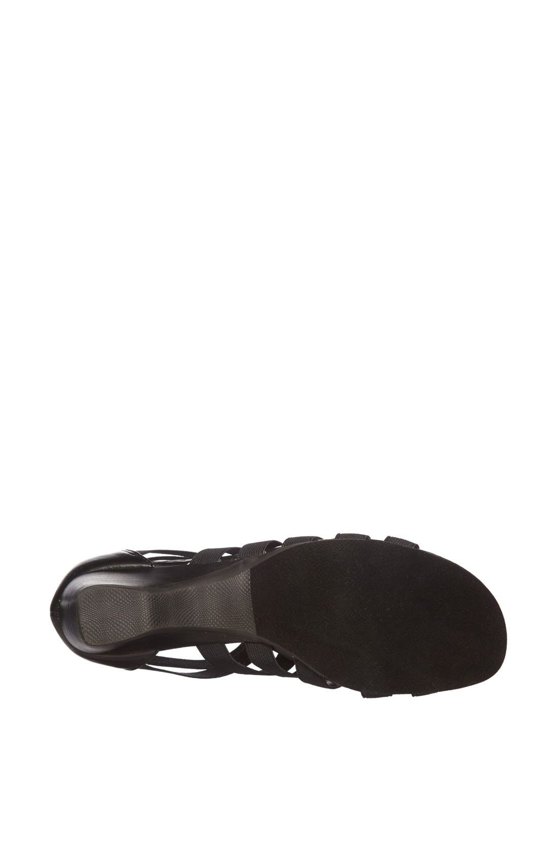 'Paula II' Sandal,                             Alternate thumbnail 4, color,                             Black