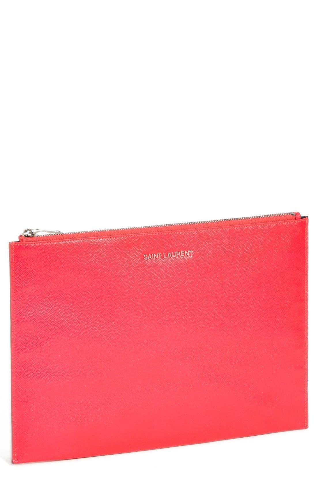 Alternate Image 1 Selected - Saint Laurent 'Letters' Zip Clutch
