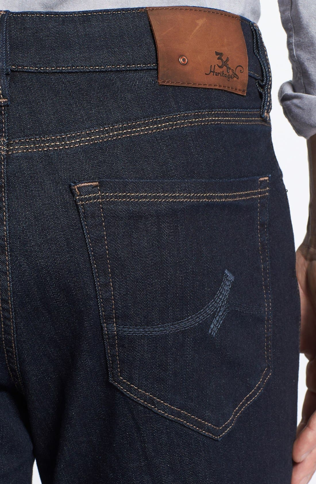 'Charisma' Classic Relaxed Fit Jeans,                             Alternate thumbnail 4, color,                             Midnight Cashmere