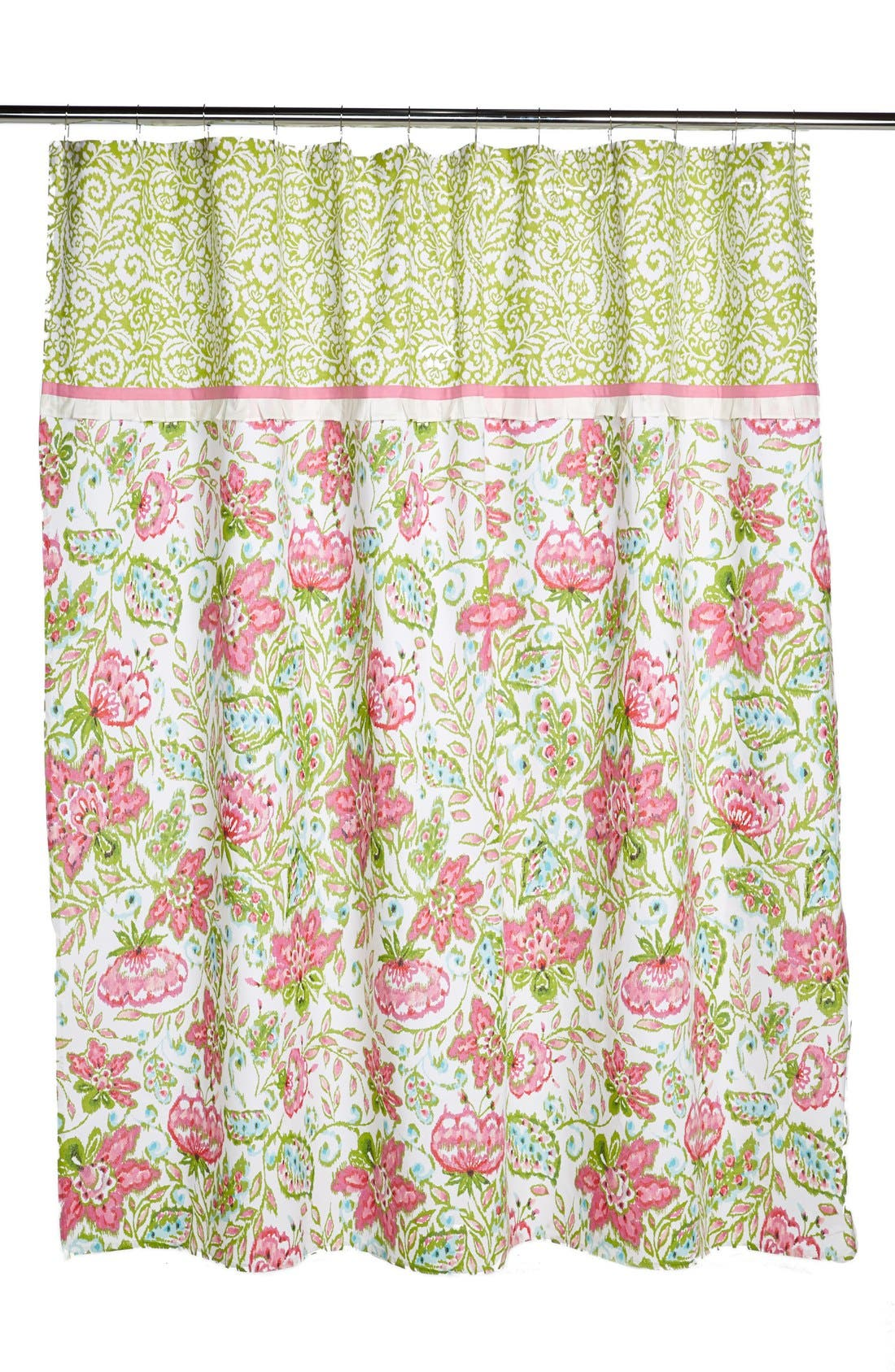 Alternate Image 1 Selected - Dena Home Paisley & Floral Print Shower Curtain