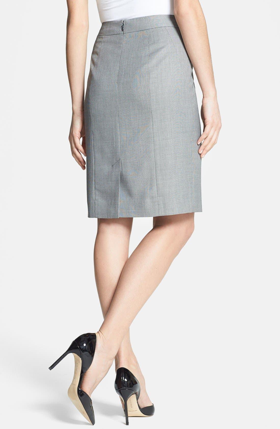 Alternate Image 2  - Classiques Entier® 'Corsa Check' Pencil Skirt
