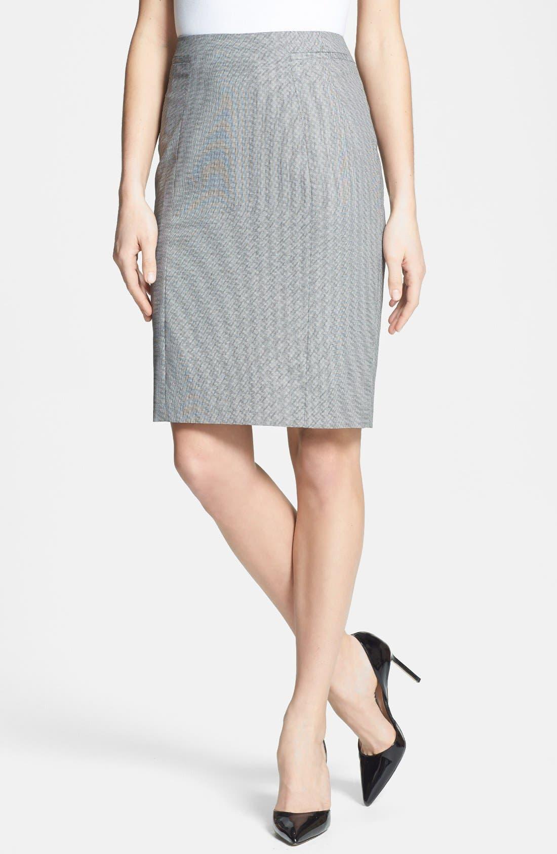 Alternate Image 1 Selected - Classiques Entier® 'Corsa Check' Pencil Skirt