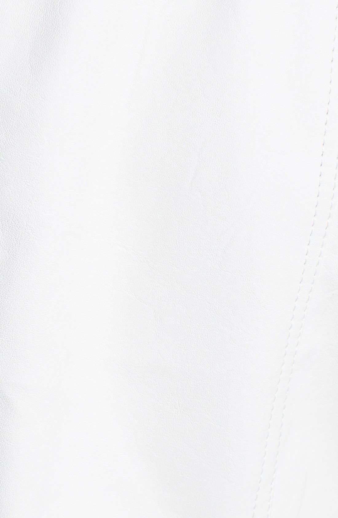 Alternate Image 3  - Steve Madden Perforated Sleeve Faux Leather Moto Jacket