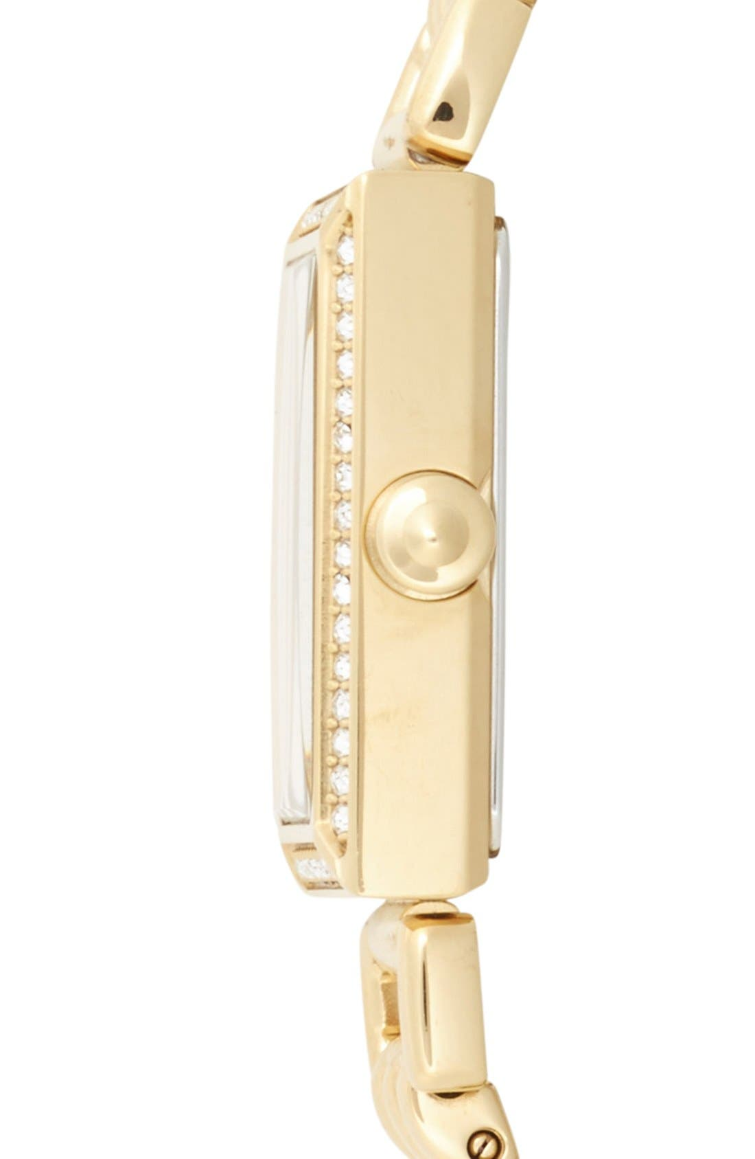 Alternate Image 3  - COACH 'Madison' Crystal Bezel Bracelet Watch, 17mm x 30mm