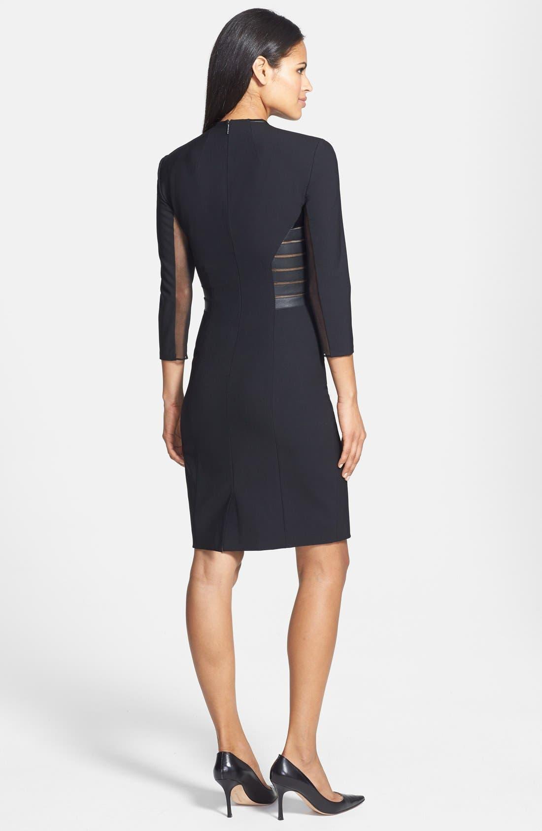 Alternate Image 2  - Rachel Roy Faux Leather Trim V-Neck Dress