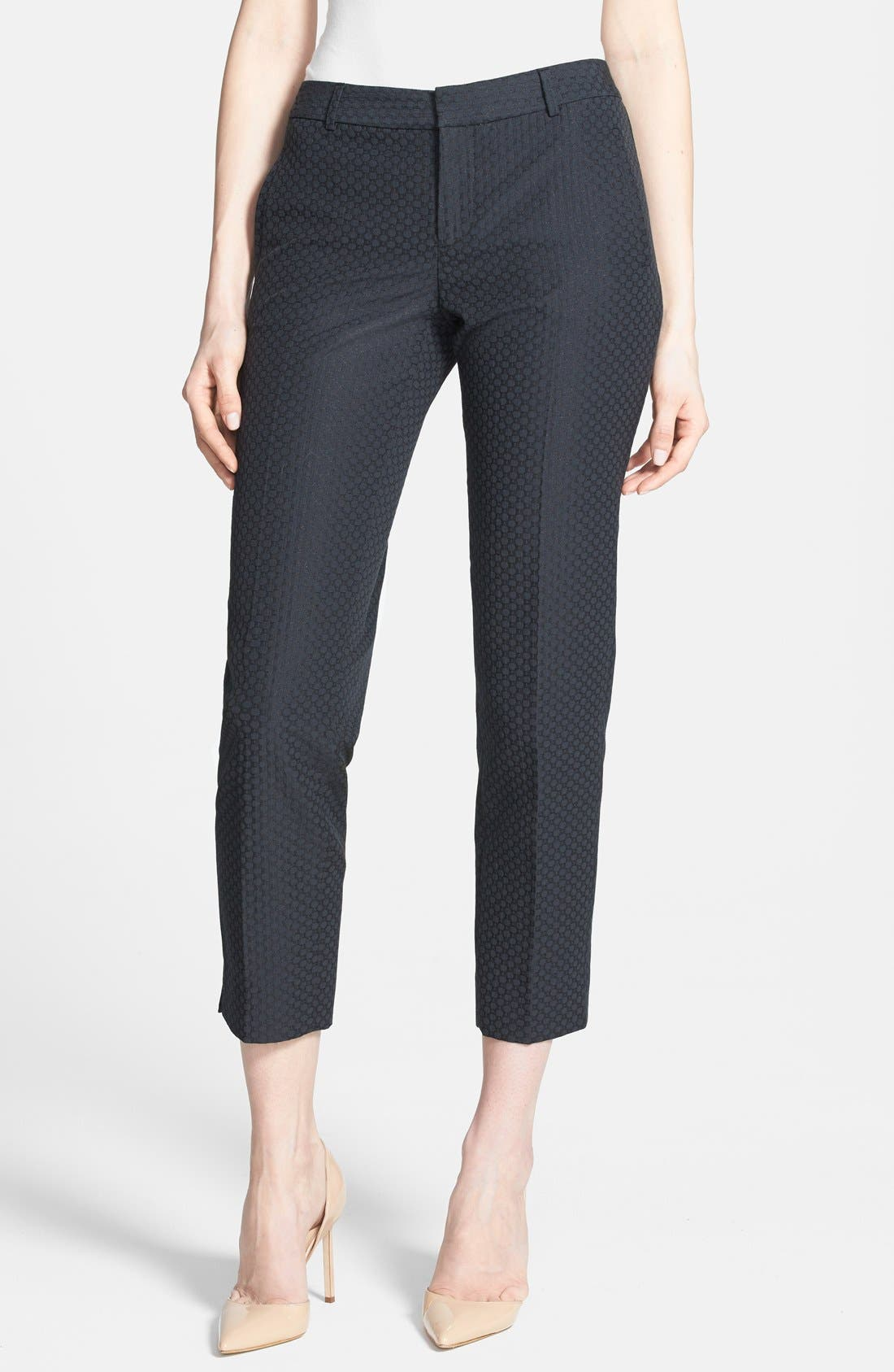 Alternate Image 1 Selected - Chelsea28 Slim Jacquard Crop Pants