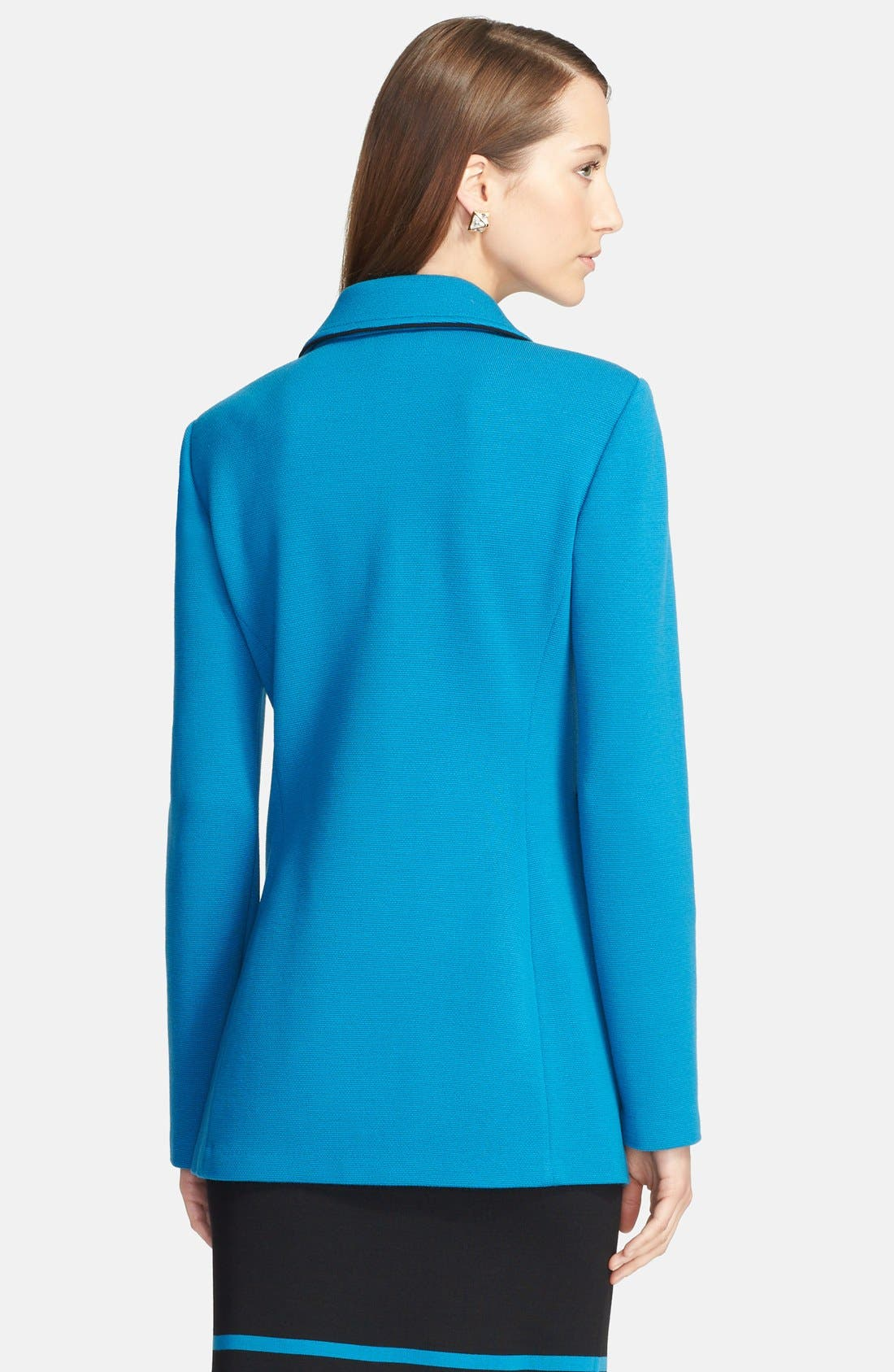 Alternate Image 3  - St. John Collection Double Milano Knit Blazer with Silk Piping
